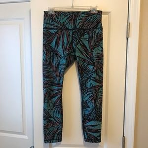 Palm Print Lululemon High Times Pant